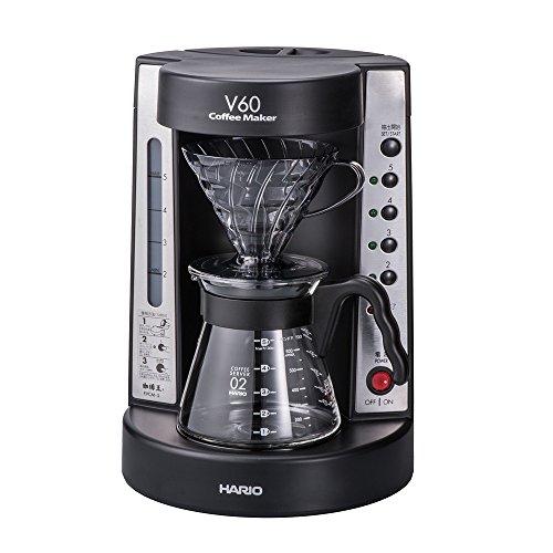 ハリオ 珈琲王 コーヒーメーカー V60 透明ブラック EVCM-5TB
