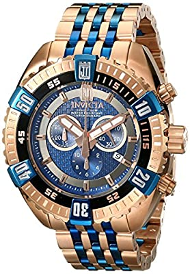 Invicta Men's 16305BWB Jason Taylor Analog Display Swiss Quartz Two Tone Watch