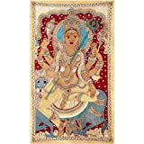 Redbag Goddess Sherawali Ma - Cotton Kalamkari Painting