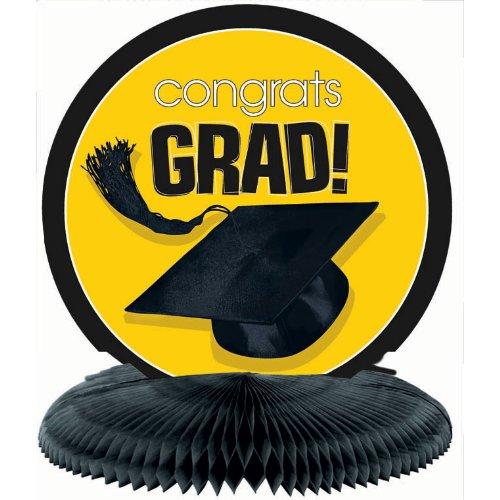 Congrats Grad Yellow Honeycomb Centerpiece