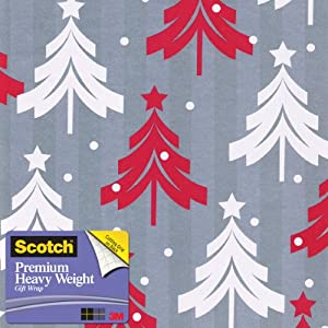 Scotch  Gift Wrap, Santa's Sack Pattern, 25-Square Feet, 30-Inch x 10-Feet (AM-WPTT-12)