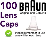 100 Replacement Lens Filter Probe Covers Caps for Braun Thermoscan Thermometers