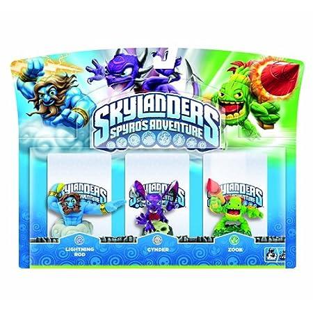 Skylanders Spyro's Adventure Triple Character Pack (Cynder, Lightning Rod, Zook)