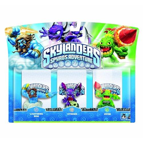 Skylanders Triple Character Pack - Cynder - Lightning Rod - Zook