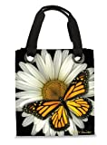 Harold Feinstein White Daisy and Monarch Butterfly Modern Tote