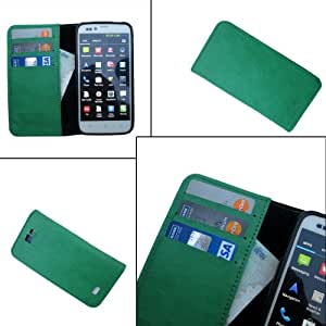 i-KitPit - PU Leather Wallet Flip Case Cover For Samsung Galaxy Core (GREEN)