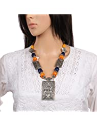 Mela Hand Crafted Fashion Jewellery, Beads Necklace With Pendant For Women