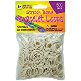 Pepperell Stretch Band Bracelet Loops, White, 500 Per Package