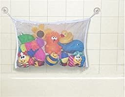 New Baby Bath Time Toy Storage Suction Bag Mesh Net Bathroom Organiser 2 Sizes