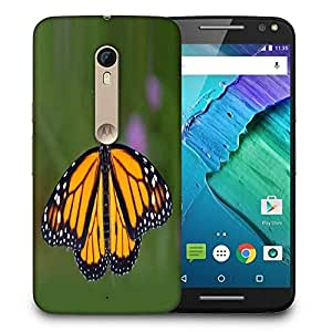 Snoogg Monarch Butterfly Printed Protective Phone Back Case Cover For Motorola X Style