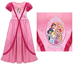 Disney Store Disney Princess Nightgown Featuring Princesses Rapunzel, Belle, Aurora (Sleeping Beauty) and Jasmine: Size XS 4