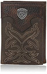 Ariat Men\'s Boot Embroidery Tri-Fold Brown, One Size