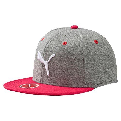 PUMA ESS StretchFit Cappello con visiera piatta, Grigio (Gray Heather), L/XL