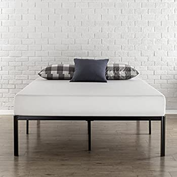 Zinus 16 Inch Metal Platform Bed Frame with Steel Slat Support/Mattress Foundation, Queen