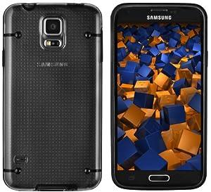 mumbi Protector Hülle Samsung Galaxy S5 (transparente massive Rückseite)