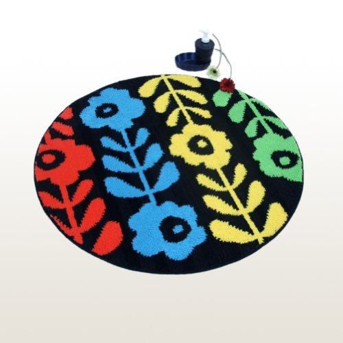 Naomi - [Colorful Flower World] Round Home Rugs (35.4 by 35.4 inches)