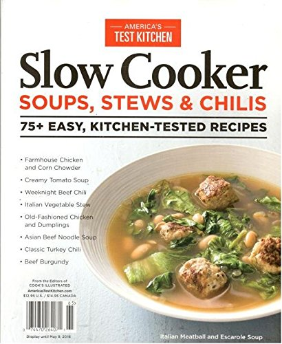 Slow Cooker Soups Stews & Chilis (America's Test Kitchen 2016) (Americas Test Kitchen Slowcooker compare prices)