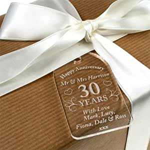 ... Wedding Anniversary Gifts, 30th Anniversary Gift Tag: Amazon.co.uk