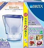 【高除去12項目で2ヵ月交換】 BRITA(ブリタ) マレーラCool ラベンダーパープル 1.4L (カートリッジ1個増量)
