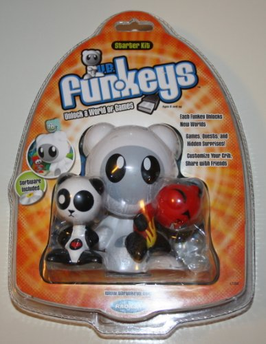 Radica U.B. Funkeys Computer Game Starter Kit with Lotus and Deuce Plus Software CD (L7288)