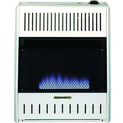 ProCom MNSD200TBA-BB Dual Propane/Natural Gas Vent-Free Blue Flame Space Heater, 20,000 BTU, Base and Blower Included (Procom Blue Flame Heater Blowers compare prices)