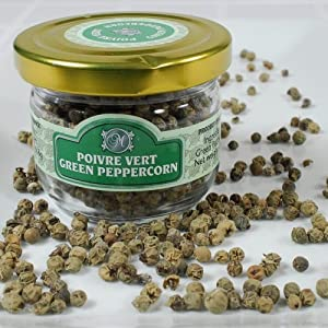 French Dried Peppercorns - Green - 1 x 1.0 lb