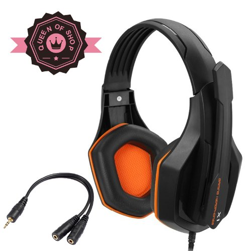Gaming Peripherals X1 Orange 3D Cutting Design Gaming Headphones Hd Enthusiast Gaming Weapon With Electric Gaming Equipment Horn And Condenser Microphone