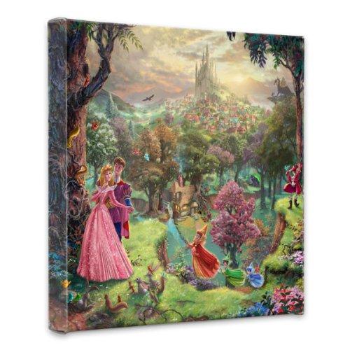 Thomas Kinkade Sleeping Beauty 14″x14″x1.5″ canvas wrap