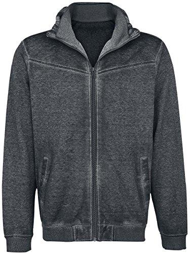Black Premium by EMP Burnout Sweatjacket Felpa con cappuccio antracite S