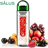 SALUS Infusion Water Bottle, Tritan Fruit Infuser For Naturally Flavored Fresh Drinking Water With Handle, Multi-Purpose...