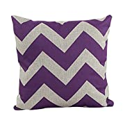 Price · Generic Decorative Cotton Linen Throw Pillow Cover Chevron Stripe  Pillowcase 18x18 Inch Purple