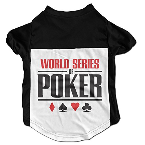 [CcElothe World Series Of Poker Pet Shirts Black Small] (Benny And Smalls Costume)