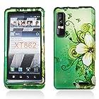 Motorola DROID 3 XT862 (Verizon) Snap-on Protector Hard Case Image Cover Garden Green Design