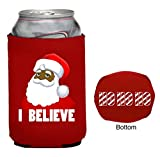 Funny Guy Mugs I Believe Santa Neoprene Can Coolie, Red