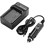 Amsahr EN-EL3, EN-EL3A, EN-EL3E, D100 Digital Replacement Camera And Camcorder Mini Battery Travel Charger For...