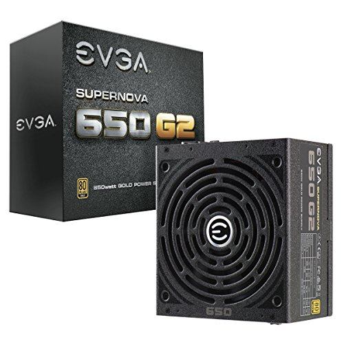EVGA SuperNOVA 650 G2, 80+ GOLD 650W, Fully Modular, EVGA ECO Mode, 7 Year Warranty, Includes FREE Power On Self Tester, Power Supply 220-G2-0650-Y1 (650w Psu Modular compare prices)