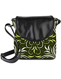 Snoogg Seamless Floral Pattern Abstract Background Womens Sling Bag Small Size Tote Bag