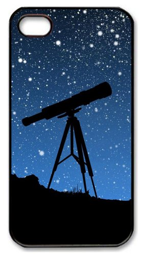 Iphone 4 Case Good Cover Sky Telescope Pc Black For Apple Iphone 4/4S
