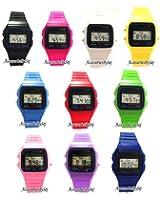 Orologio da polso retro colore misto - quadrante 3,6 centimetri - disponibile in 10 colori - Quarzo digitale - cinturino in plastica - sacchetto del regalo presenti offerto AccessoriesBySej - AccessoriesBySejTM