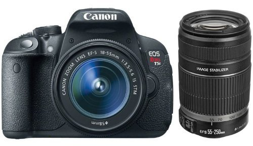 Canon Eos Rebel T5I D-Slr Camera With Ef-S 18-55Mm F/3.5-5.6 Is Stm Lens + Canon Ef-S 55-250Mm F/4-5.6 Is Ii Lens