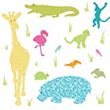 RoomMates Repositionable Childrens Giant Wall Stickers - Animal Silhouettes Colourful