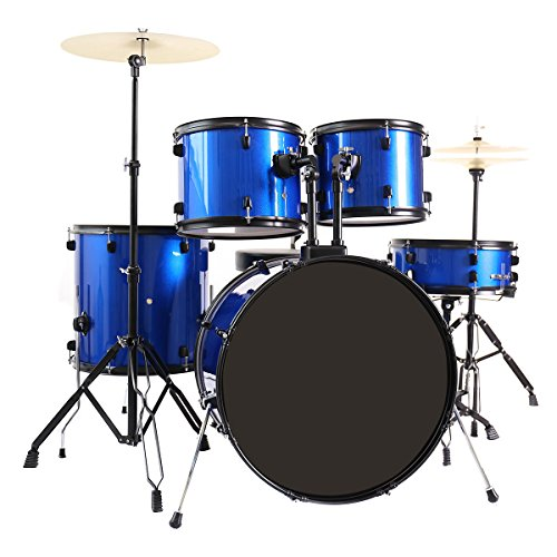costzon-full-size-complete-adult-5-piece-drum-set-with-cymbal-throne-blue