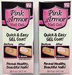 Set of 2 Pink Armor Nail Growth Formu...