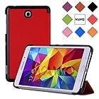 WAWO Creative Tri-fold Cover Case for Samsung Galaxy Tab 4 7.0 Inch Tablet - Red