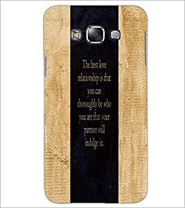 PrintDhaba Quote D-3273 Back Case Cover for SAMSUNG GALAXY GRAND 3 (Multi-Coloured)