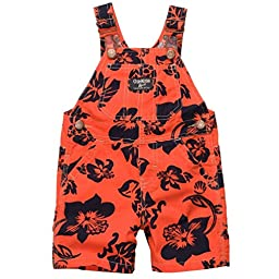 OshKosh B\'gosh Hawaiian Shortalls (6 Months, Orange)