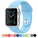 LIANGHX Apple Watch バンド アップルウォッチ バンド ベルト Apple Watch 38mm 対応 Apple Watch 42mm 対応 13color