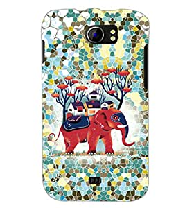 PrintDhaba Elephant design D-2590 Back Case Cover for MICROMAX A110 CANVAS 2 (Multi-Coloured)