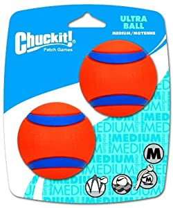 ChuckIt! Medium Ultra Balls 2.5-Inch, 2-Pack, Durable dog ball perfect for fetching