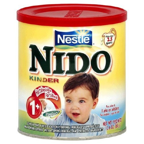 Nestle Nido Milk Powder, Age 1+ With Prebiotic Ingredients, 12.6-Ounce Containers (Pack Of 4) front-1047186